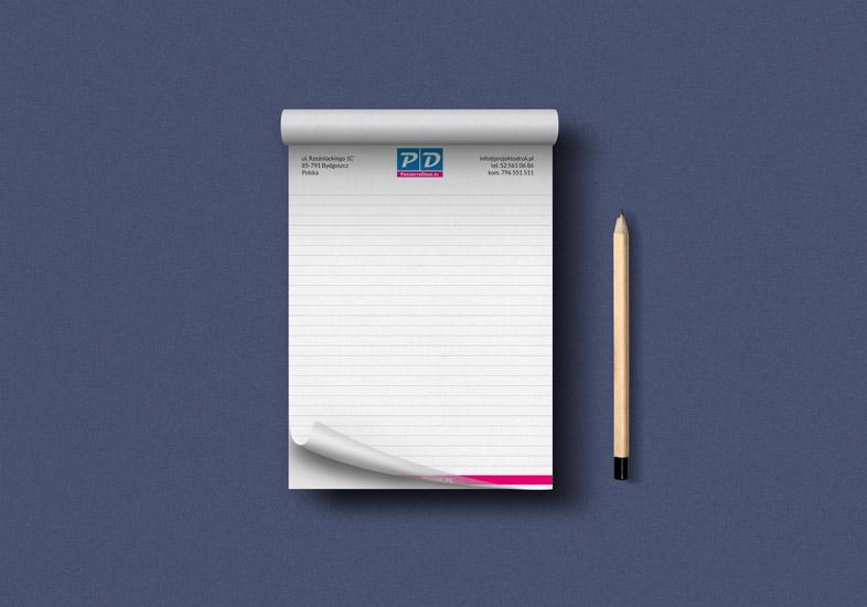 Notes klejony z nadrukiem