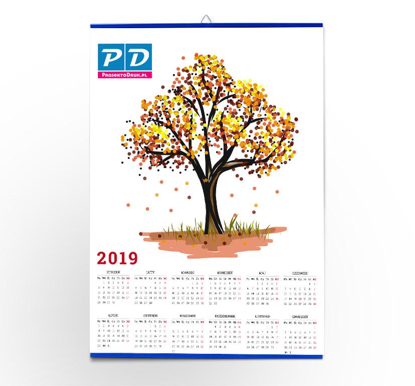 Kalendarz wiszący z listwą